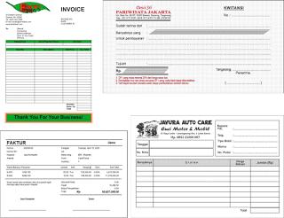 Buat Nota Faktur Invoice Di Bengkulu Cv Alex Grafika